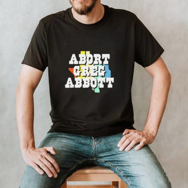 Vintage Abort Greg Abbott Texas Flag Shirt