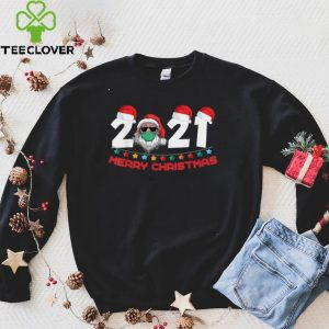 2022 Mask Christmas Funny Xmas Party Family Santa T Shirt