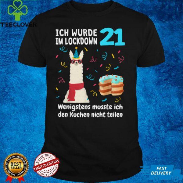 21st Birthday 21 Years 2000 Gift Man Llama Alpaca T Shirt