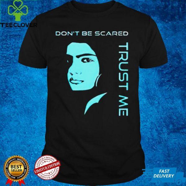 2D flat pop art Blue Silhouette Portrait Undercover Police dont be scared trust me shirt