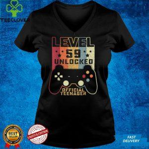 59th Birthday Shirt Level 59 Unlocked Official Teenager T Shirt