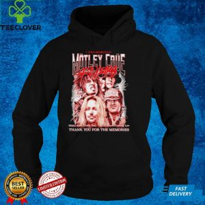 Motley Crue 40 years thank you for the memories shirt