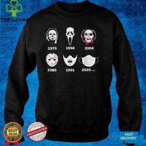 A History of Horror Masks Halloween Horror Movie T Shirt