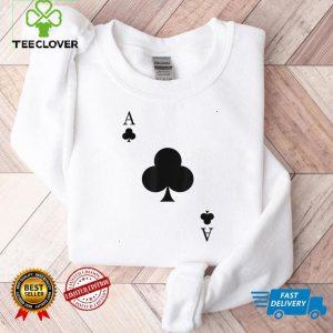 Ace Of Clubs Costume Shirt Funny Halloween Gift Tshirt T Shirt 1