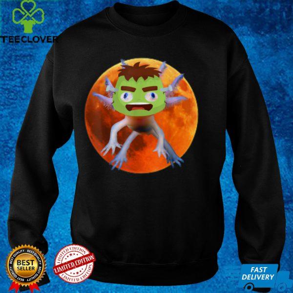 Axolotl Mexican Walking Fish Halloween Frankenstein Axolotl T Shirt