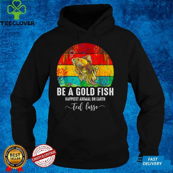 Be A Goldfish Funny Soccer Ted Coach Motivation _ Lasso T Shirt