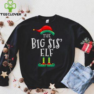 Big Sis Elf Matching Family Group Christmas Party Pajama T Shirt