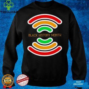 Black History Month wifi shirt