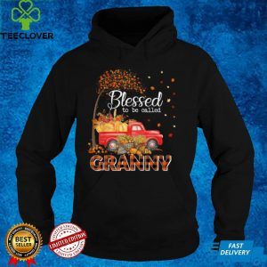 Blessed To Be Called Granny Thanksgiving Fall Leaves Autumn T Shirt