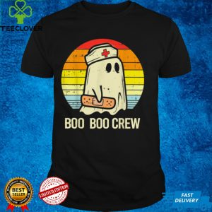 Boo Boo Crew Nurse Halloween Shirt For Nurses RN Ghost Women T Shirt