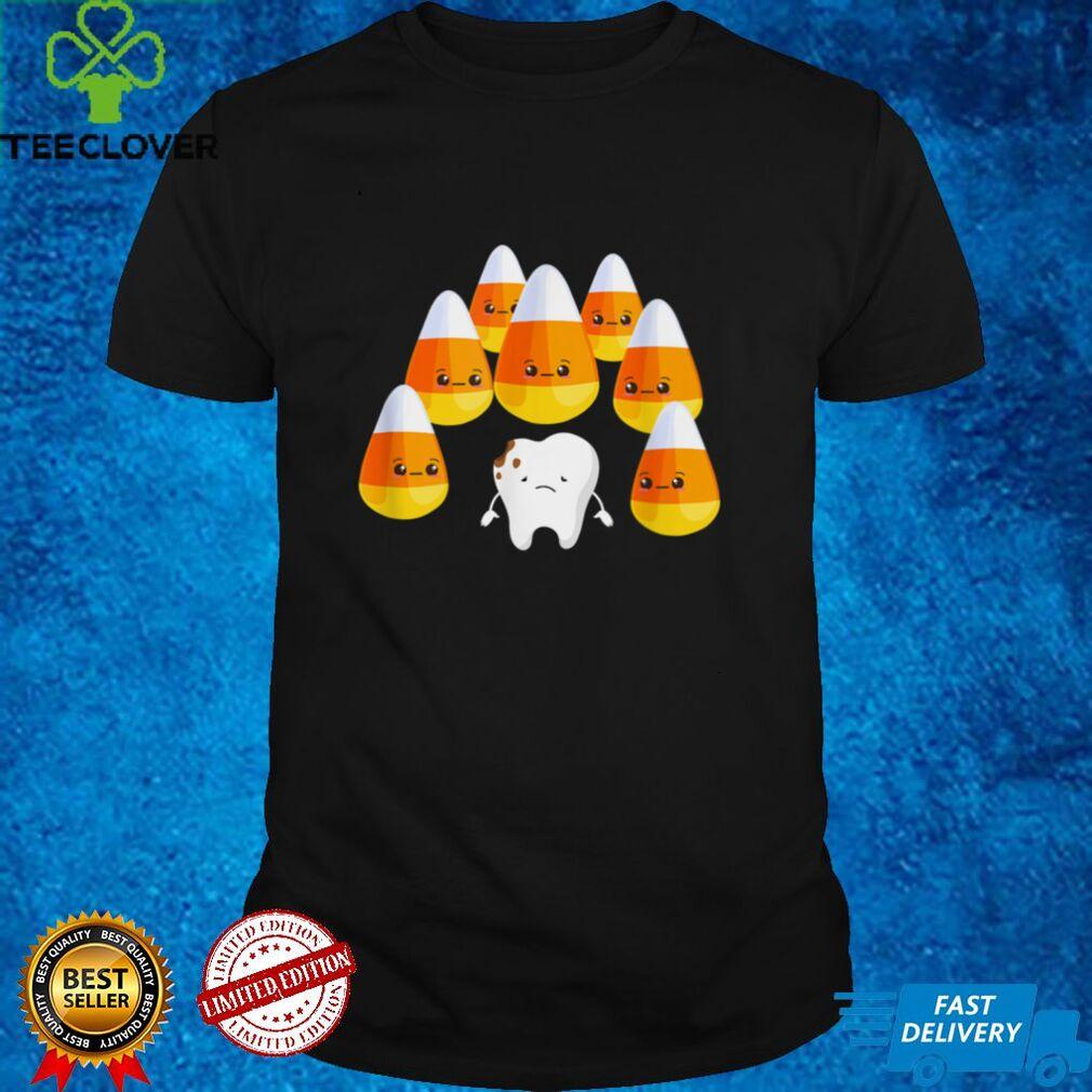Candy Corn Teeth Cute Halloween Kawaii T Shirt