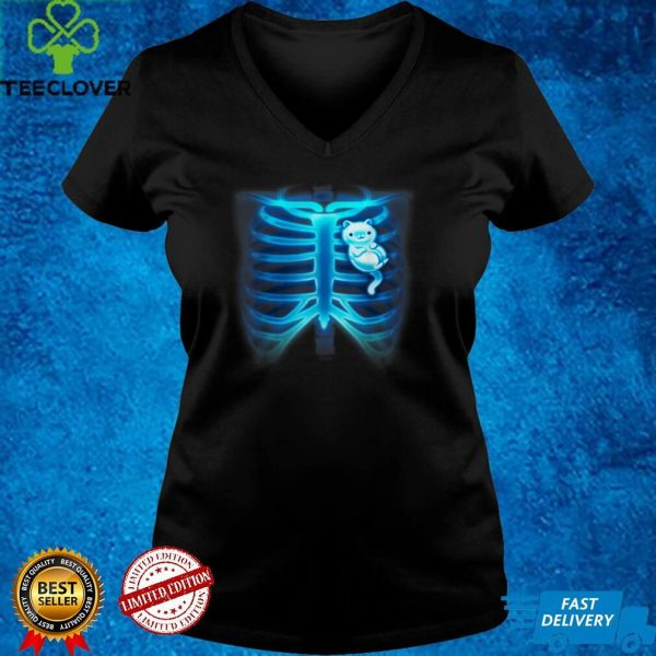 Cats in my Heart X Ray Skeleton Bones Kitten Cat Lover T Shirt