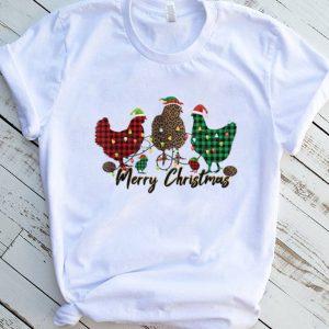 Christmas Buffalo Plaid chickens Santa The Chicken Whisperer T Shirt