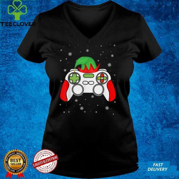 Christmas Elf Gamer Controller Boys Kids Teens Gaming Xmas T Shirt