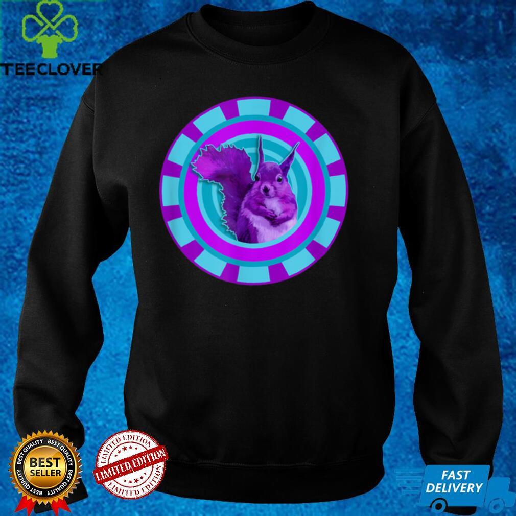 Cute Purple Girly Kitsch Animal Lover Kawaii Art Squirrel T Shirt