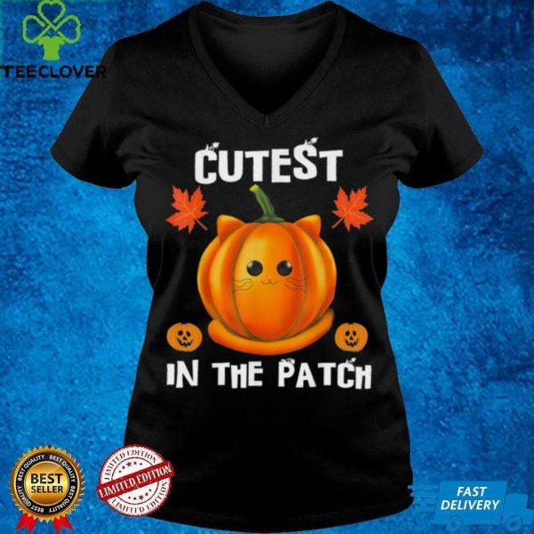 Cutest Pumpkin in the Patch Cute Pumpkin Cat Halloween shirt
