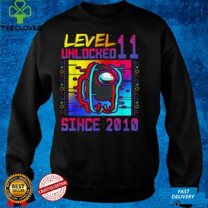 Disstressed Level 11 Among Unlocked With Us 11th Birthday T Shirt