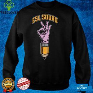 ESL Squad ESOL English As A Second Language Teacher Pencil T Shirt