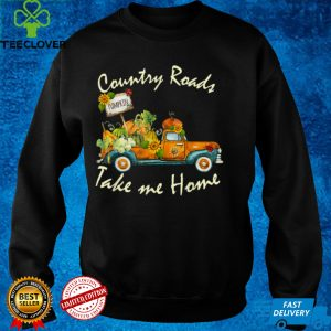 Fall Pumpkins Truck Country Roads Take Me Home Thanksgiving T Shirt