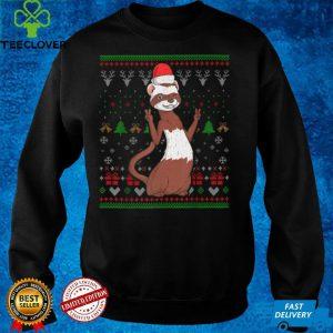 Ferret Santa Claus Ugly Christmas Pattern X Mas Cute Holiday T Shirt