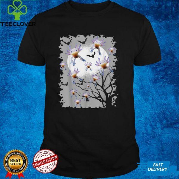 Funny Axolotl Mexican Walking Fish Halloween Bat Axolotl T Shirt