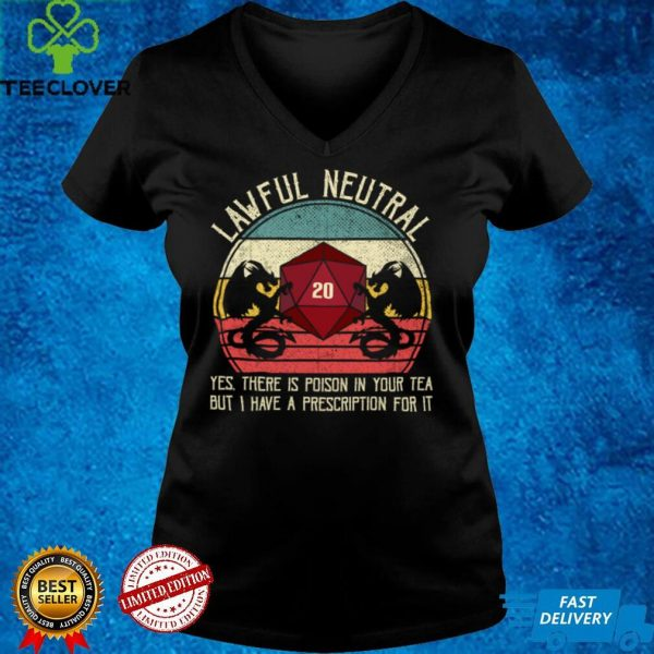 Funny Lawful Neutral Alignment Dragon D20 Tabletop Gamer Sweatshirt