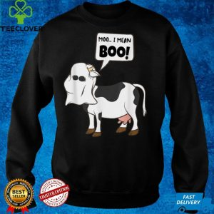 Ghost Cow Moo I Mean Boo Funny Halloween Cow Boo T Shirt