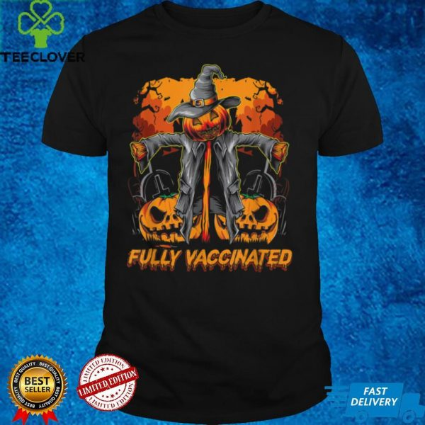 Halloween Fully Vaccinated Monster Trick Or Treat Pumpkin T Shirt