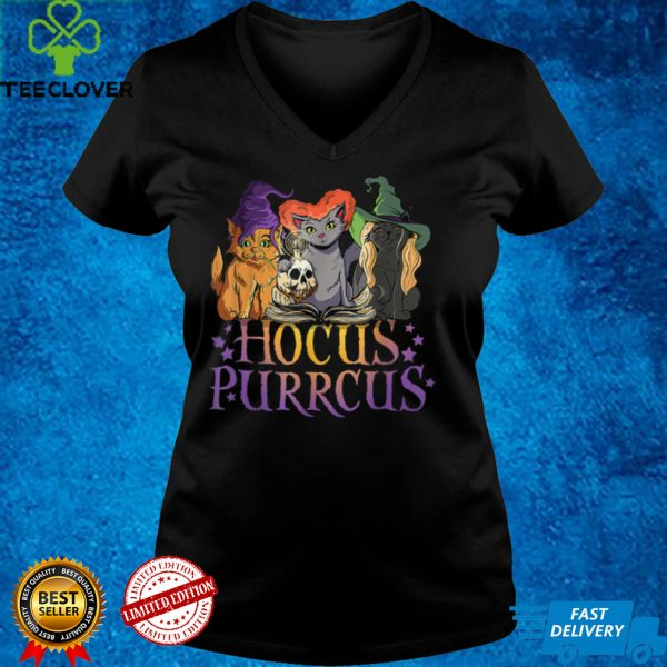 Hocus Purrcus Halloween Witch Cats Funny Parody Halloween T Shirt