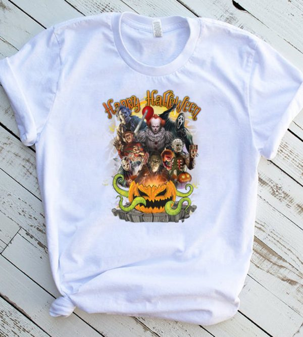 Horror Movie Killer Happy Halloween Collection Characters T Shirt