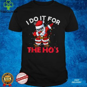 I Do It For The Hos Dabbing Santa Claus Christmas Kids Boys T Shirt