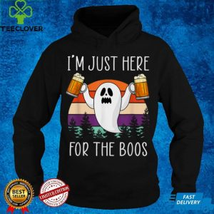 Im Just Here For The Boos Ghost Funny Halloween Women T Shirt