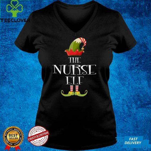 I'm The Nurse Elf Funny Xmas Pajama Family Matching Group Long Sleeve T Shirt