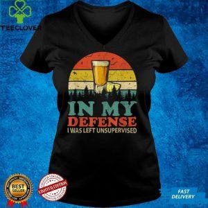 In My Defense I Was Left Unsupervised Shirt Men Women Retro T Shirt (2)