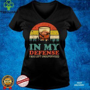 In My Defense I Was Left Unsupervised Shirt Men Women Retro T Shirt (3)
