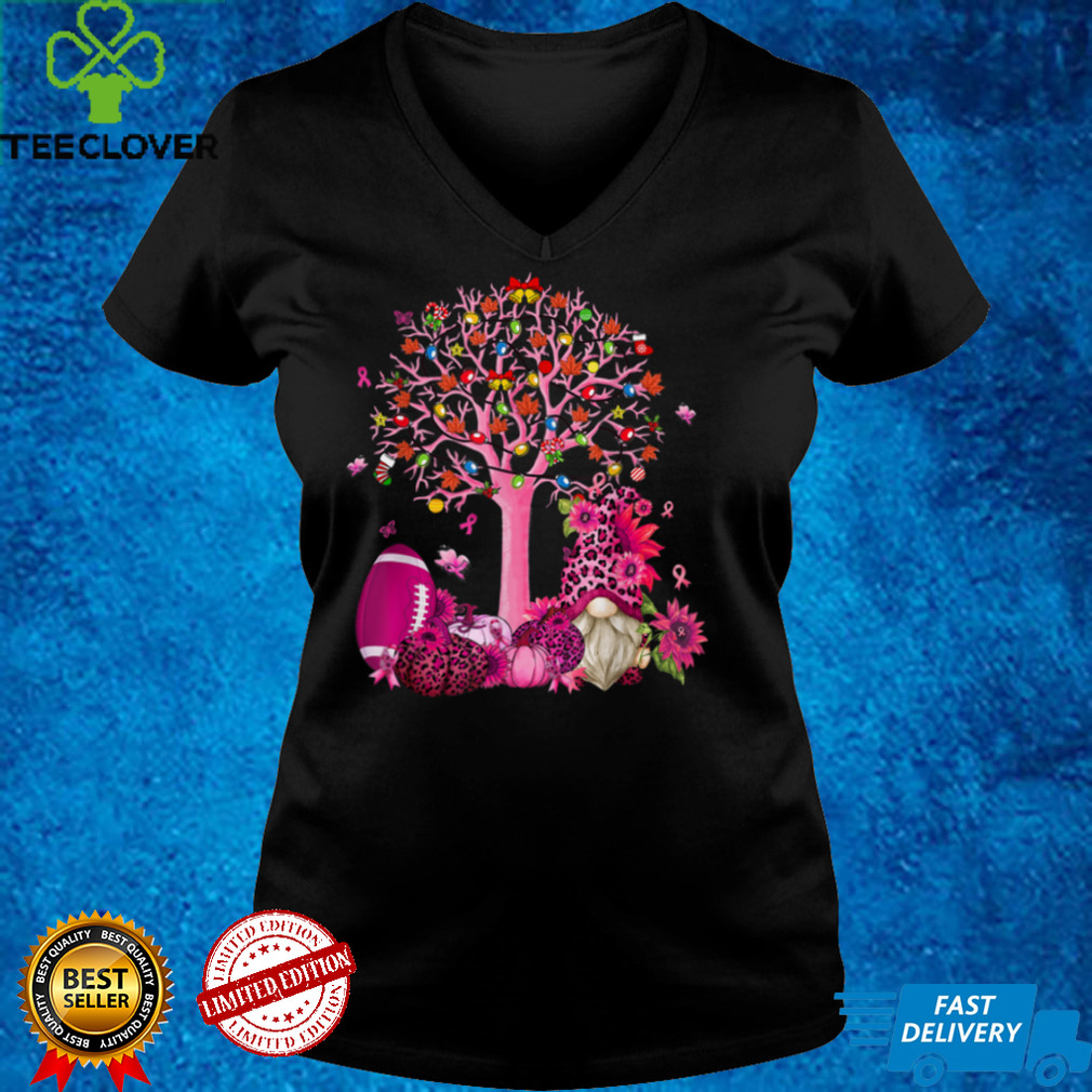 In October We Wear Pink Gnome Breast Cancer Awareness T Shirt
