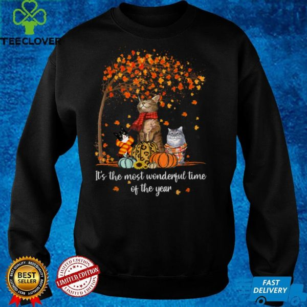 It's The Most Wonderful Time Of The Year Family Cats Autumn T Shirt