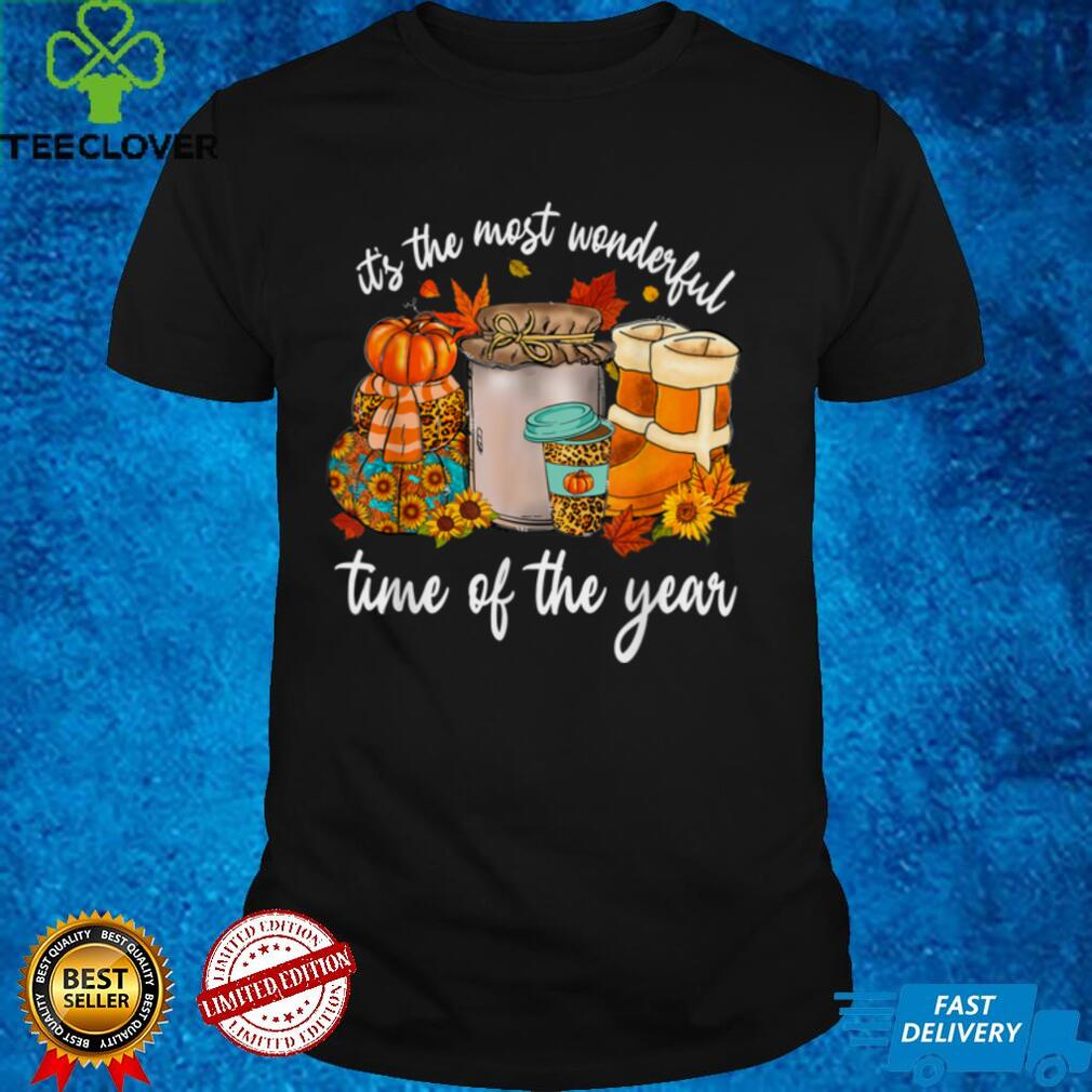 It's The Most Wonderful Time Of The Year Pumpkin Autumn Fall T Shirt