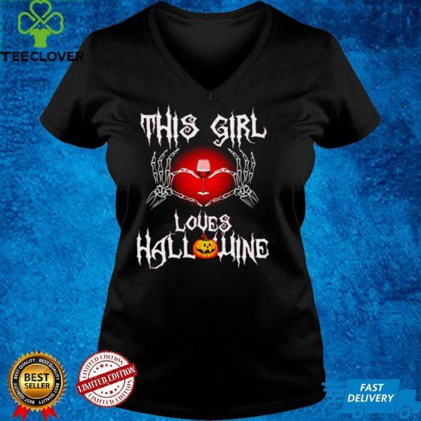 Jack Skellington This Girl Loves Halloween Wine Shirt