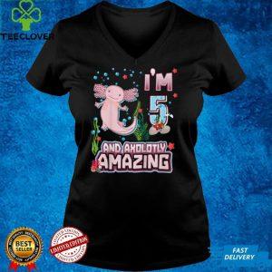 Kids Cute Axolotl Motif 5 year old Axolotl Lover 5st Birthday T Shirt