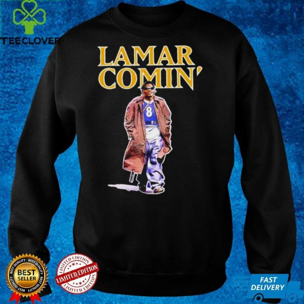 Lamar Jackson Lamar comin' shirt