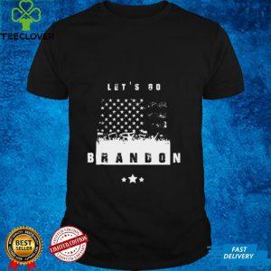 Lets Go Brandon Conservative Anti Liberal US Vintage Flag Tee Shirt