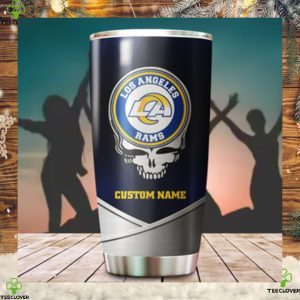 Los Angeles Rams Fan Facts Super Bowl Champions American NFL Football Team Logo Grateful Dead Skull Custom Name Personalized Tumbler Cup For Fans