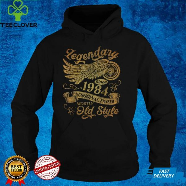 Mens Vintage Legendary Since 1984 37th Birthday 37 Year Old Gifts T Shirt