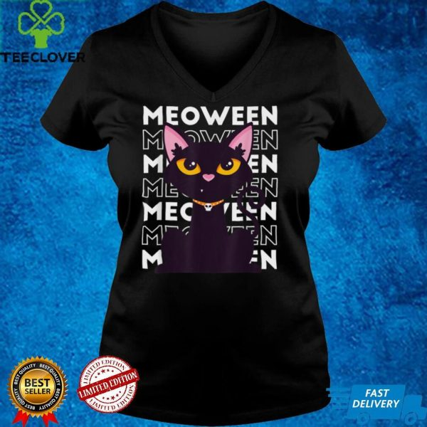 Meoween. It's Never Too Early For Halloween Black Cat T Shirt