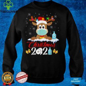 Merry Christmas 2021 Reindeer Funny Boys Kids Family Xmas T Shirt
