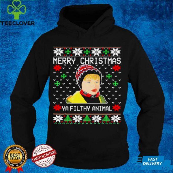 Merry christmas ya filthy animal ugly shirt