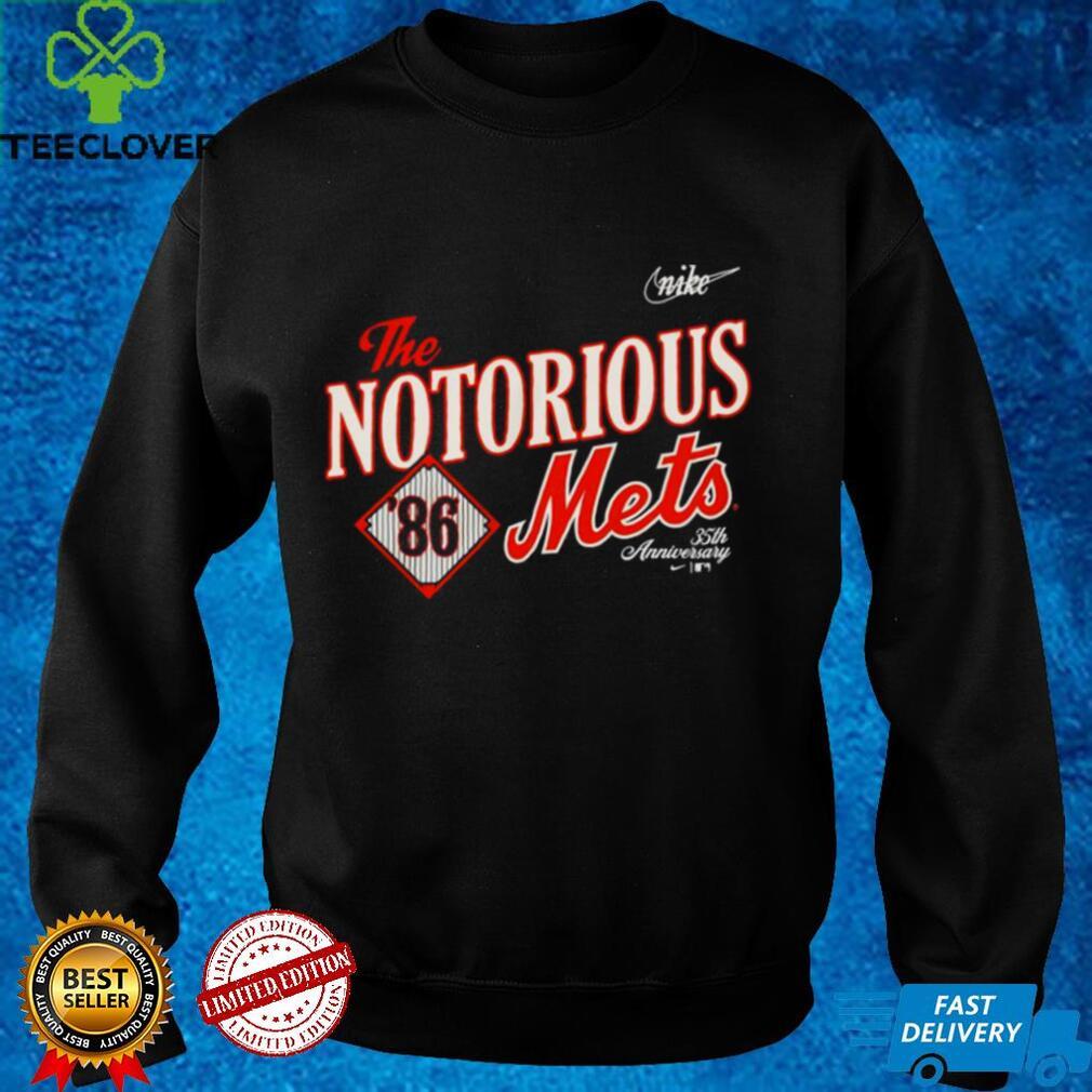 New York Mets 1986 35th Anniversary the notorious shirt