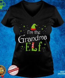 Official I'm The Grandma Elf Shirt Xmas Matching Christmas For Family T Shirt