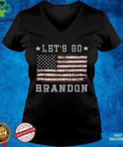Official Let's Go Brandon Biden Chant Grunge Distressed American Flag T Shirt